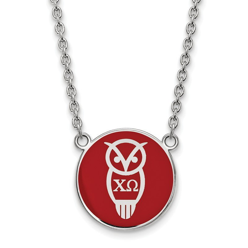 Greek Life Sterling Silver Chi Omega Greek Life Necklace