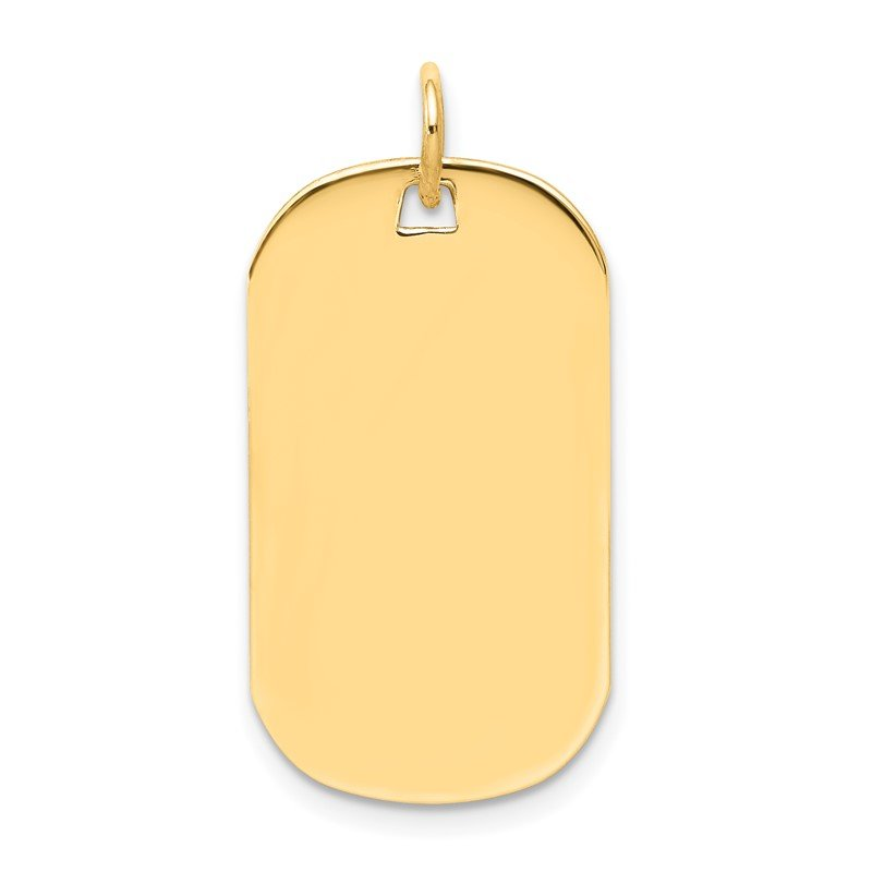 Quality Gold 14k Plain .035 Gauge Engraveable Dog Tag Disc Charm