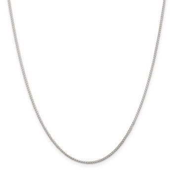 Sterling Silver Rhodium-plated 1.25mm Round Spiga Chain