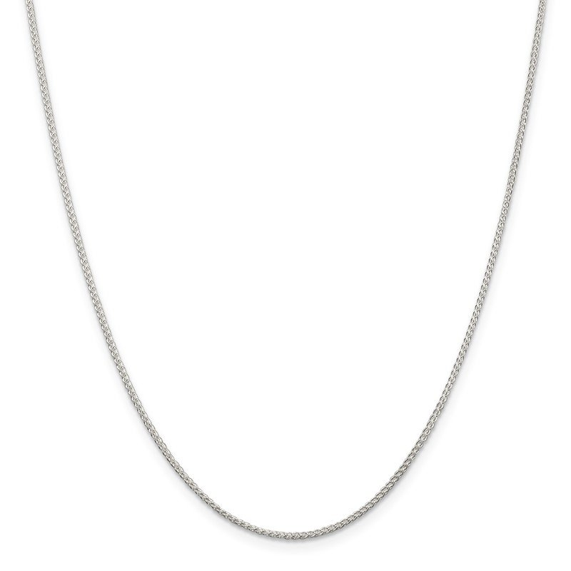 Quality Gold Sterling Silver Rhodium-plated 1.25mm Round Spiga Chain