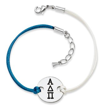 Brass/White Alpha Delta Pi Greek Life Pendant