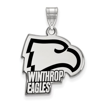 Sterling Silver Winthrop University NCAA Pendant