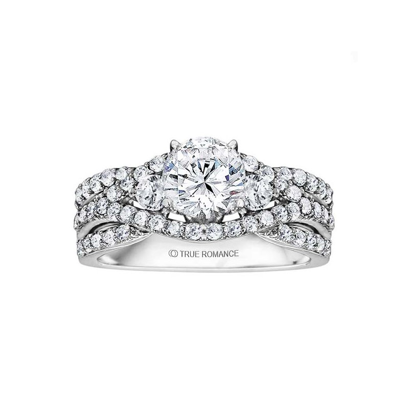 True Romance Diamond Crossover Engagement Ring