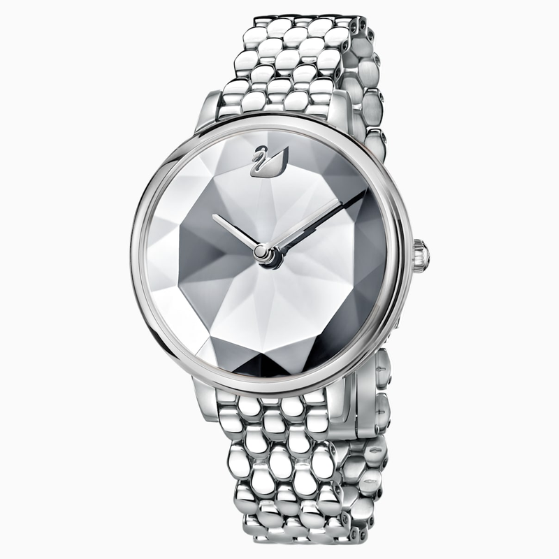 Swarovski Crystal Lake Watch, Metal bracelet, White, Stainless steel
