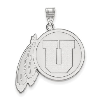 Sterling Silver University of Utah NCAA Pendant