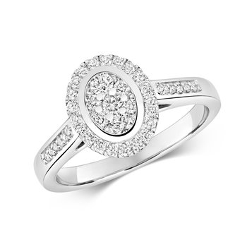 Diamond Cluster Ring Oval