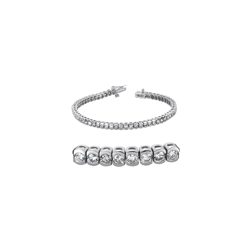 S. Kashi  & Sons Tube Set Diamond Bracelet