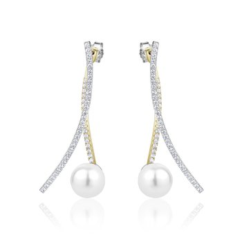 Two Piece Shell Pearl Earrings
