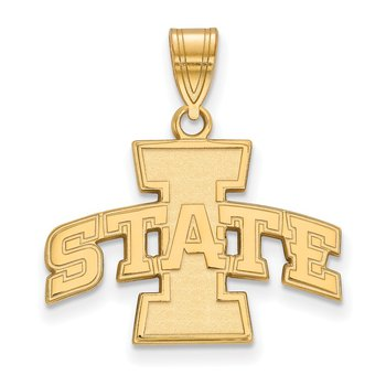 Gold Iowa State University NCAA Pendant