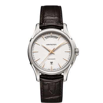 Hamilton Jazzmaster Day Date Automatic - White Dial / Brown Leather