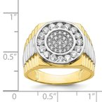 Quality Gold 10K w/Rhodium CZ Mens Ring