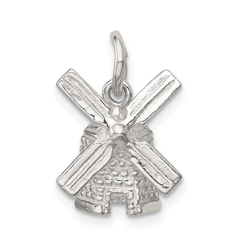Quality Gold Sterling Silver Windmill Charm