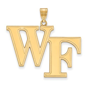 Gold-Plated Sterling Silver Wake Forest University NCAA Pendant