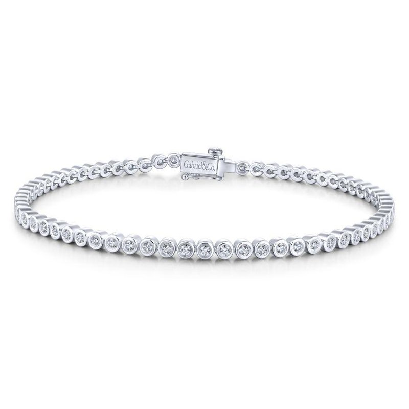 Gabriel Fashion 14K W.Gold Diamond Bracelet