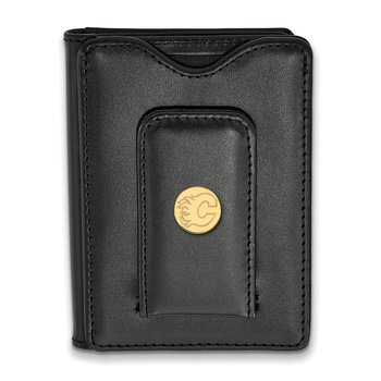 Gold-Plated Sterling Silver Calgary Flames NHL Wallet