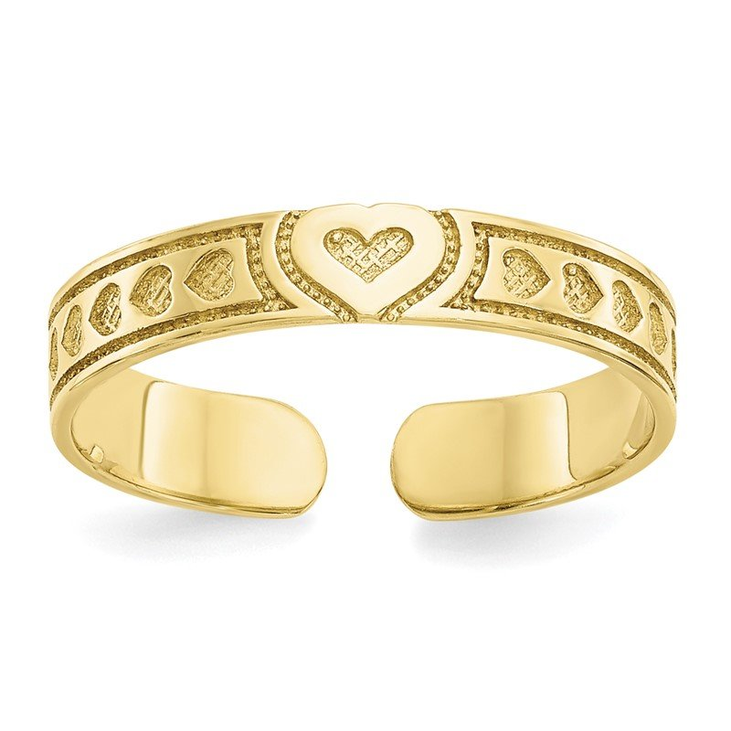 Quality Gold 10k Heart Toe Ring