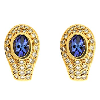 Tanzanite./diamond Earring