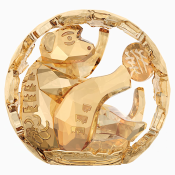 Chinese Zodiac - Monkey, Gold Tone