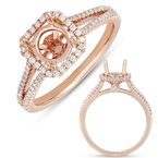 MAZZARESE Bridal Rose Gold Engagement Ring