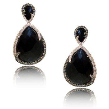 Gatsby Black Onyx Earrings