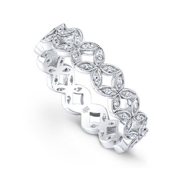 Diamond Leaf Eternity Band