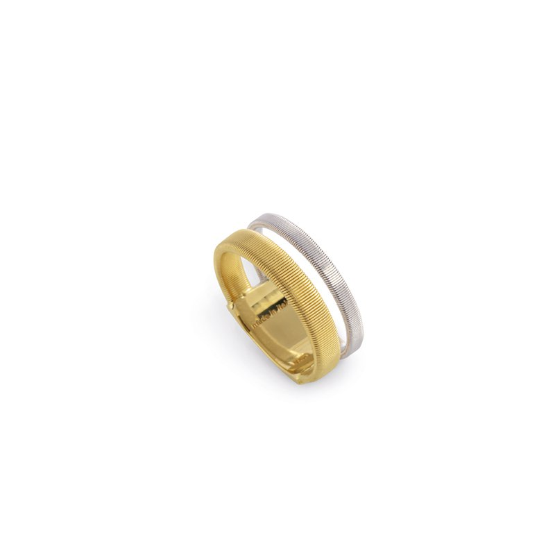 Marco Bicego Masai Two Row Ring In Yellow & White Gold