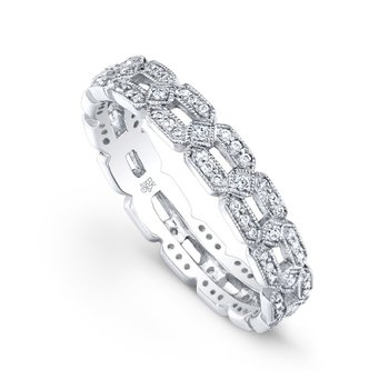Diamond Chain Style Eternity Band