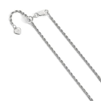 Leslie's Sterling Silver 2.25 mm Adjustable Rope Chain