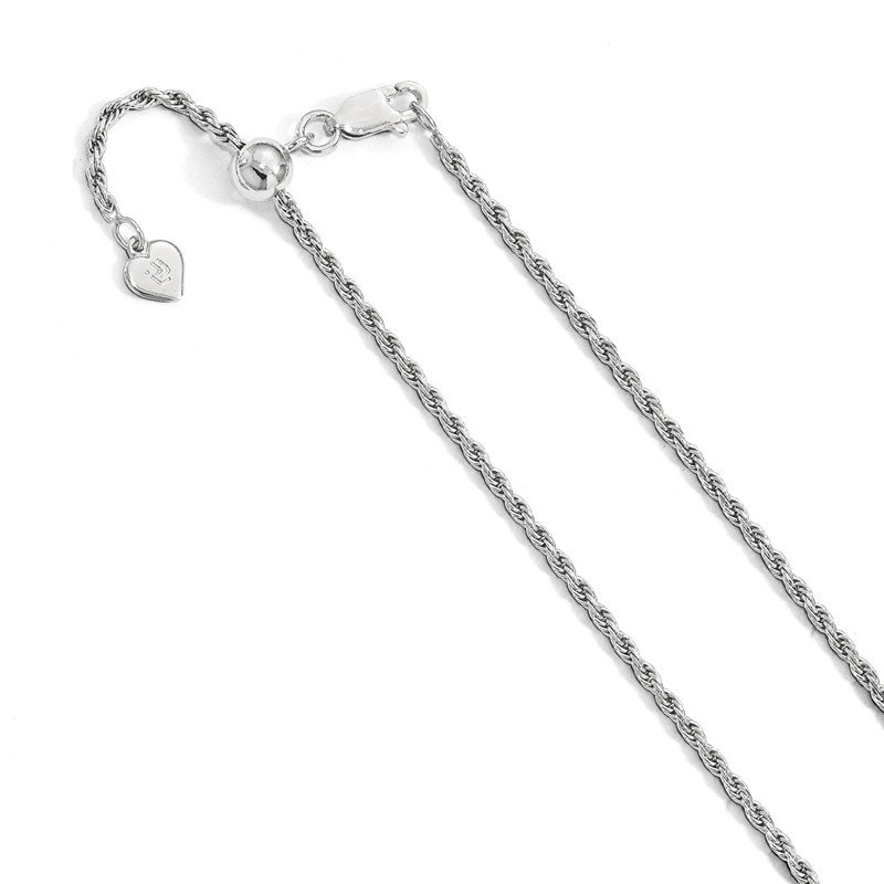 Leslie's Leslie's Sterling Silver 2.25 mm Adjustable Rope Chain