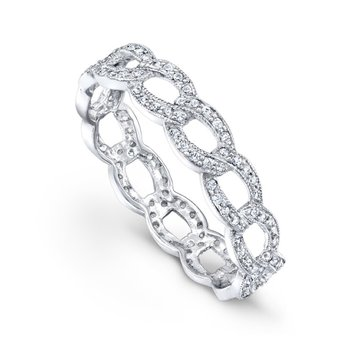 Diamond Link Eternity Band