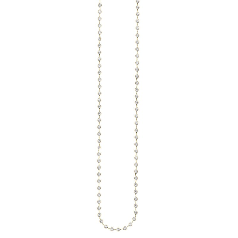 Royal Chain 14K Gold CZ by the Yard Necklace