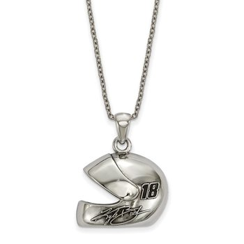 Stainless Steel 18 Kyle Busch NASCAR Necklace