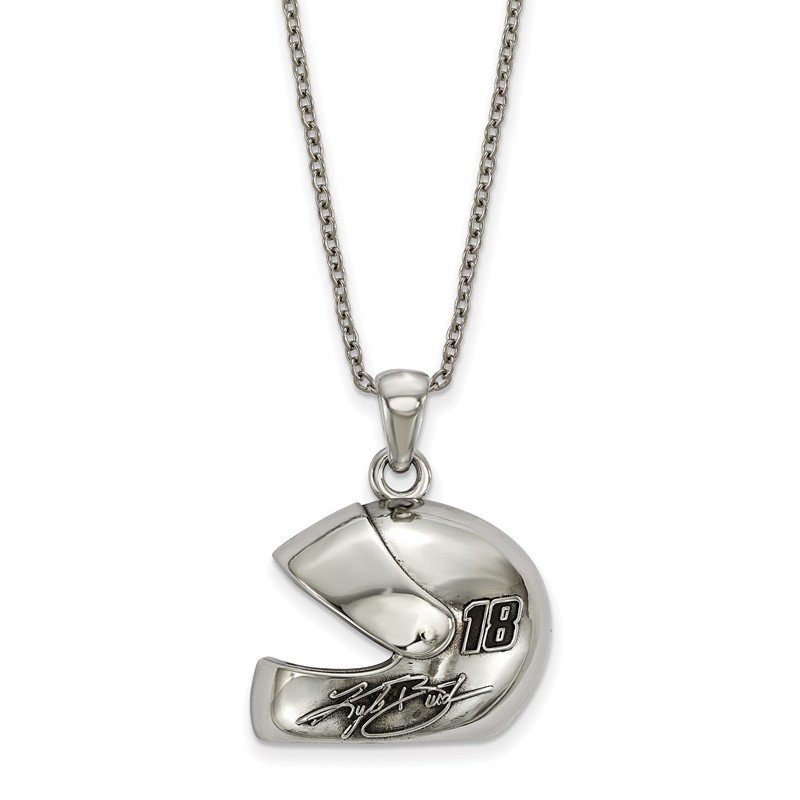 Nascar Stainless Steel 18 Kyle Busch NASCAR Necklace
