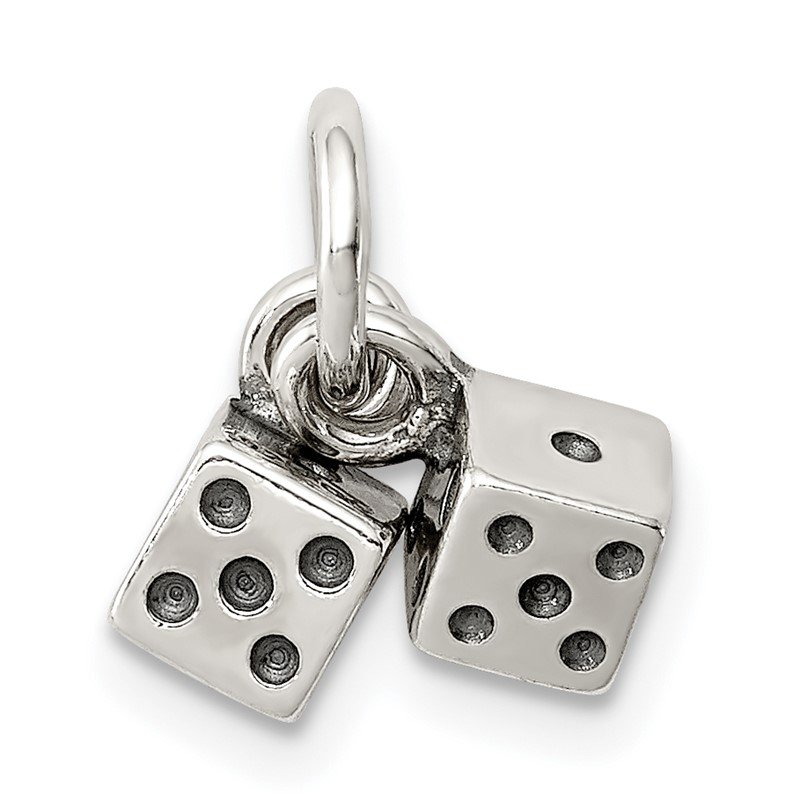 J.F. Kruse Signature Collection Sterling Silver Antique Dice Charm