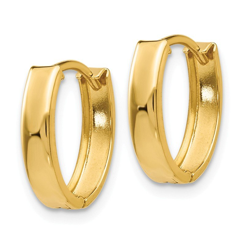 Quality Gold 14k Polished Hinged Hoop Earrings