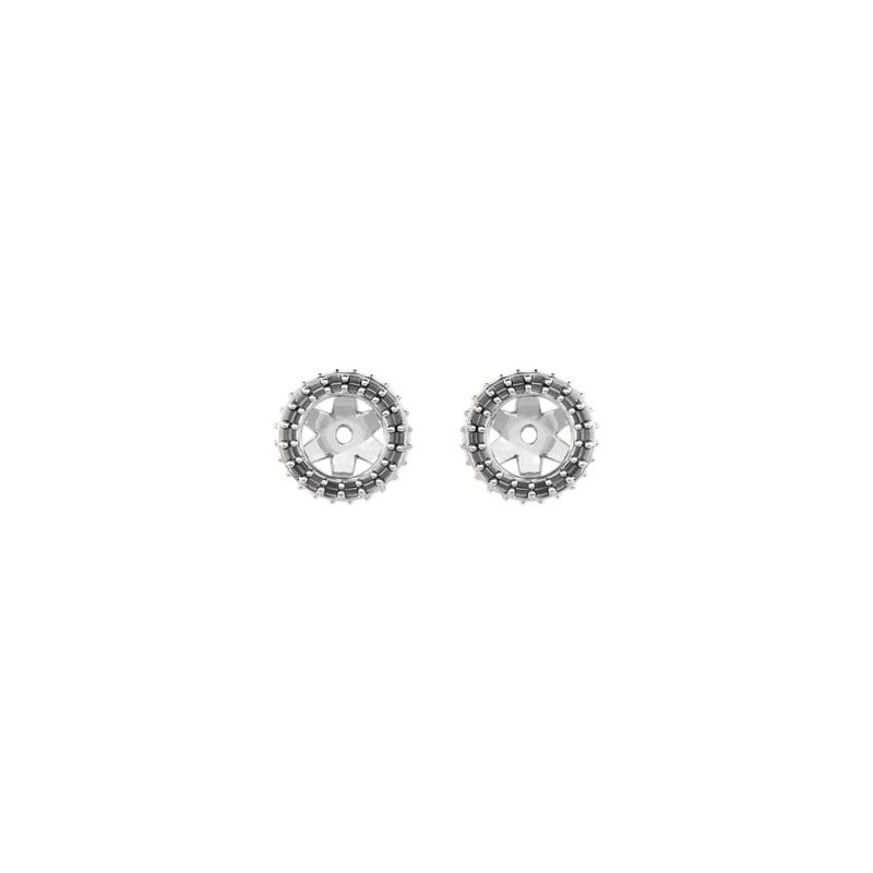 Stuller 18K White 4 mm Round Earring Jacket Mounting