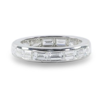 Platinum Baguette Diamond Eternity Band