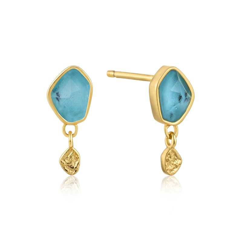 Ania Haie Turquoise Drop Stud Earrings