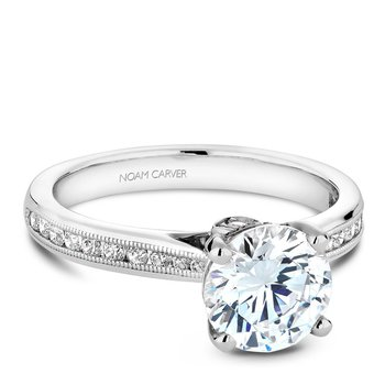 Noam Carver Vintage Engagement Ring B145-02A