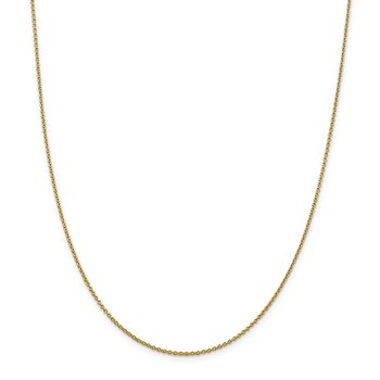 14k 1.4mm Solid Polished Cable Chain Anklet
