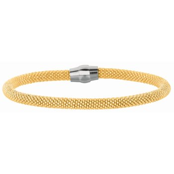 Silver Magnetic Clasp Popcorn Bangle