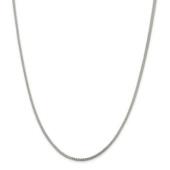 Sterling Silver 2mm D/C Square Franco Chain