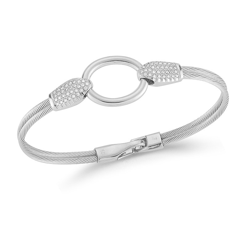 I. Reiss 14K-W WIRE BRACELET 0.45CT