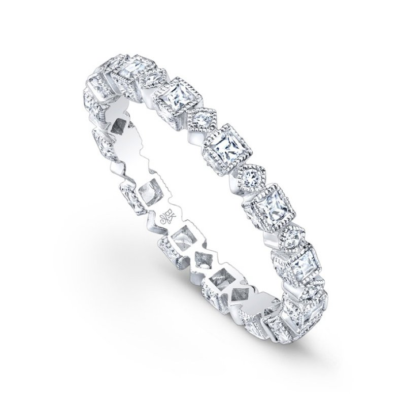 Beverley K Geometric Diamond Eternity Band