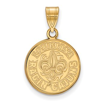 Gold-Plated Sterling Silver University of Louisiana at Lafayette NCAA Pendant
