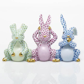 Three Wise Bunnies - Multiclor