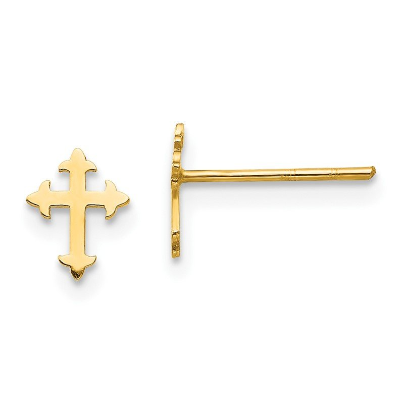 Quality Gold 14K Madi K Polished Cross Post Earrings
