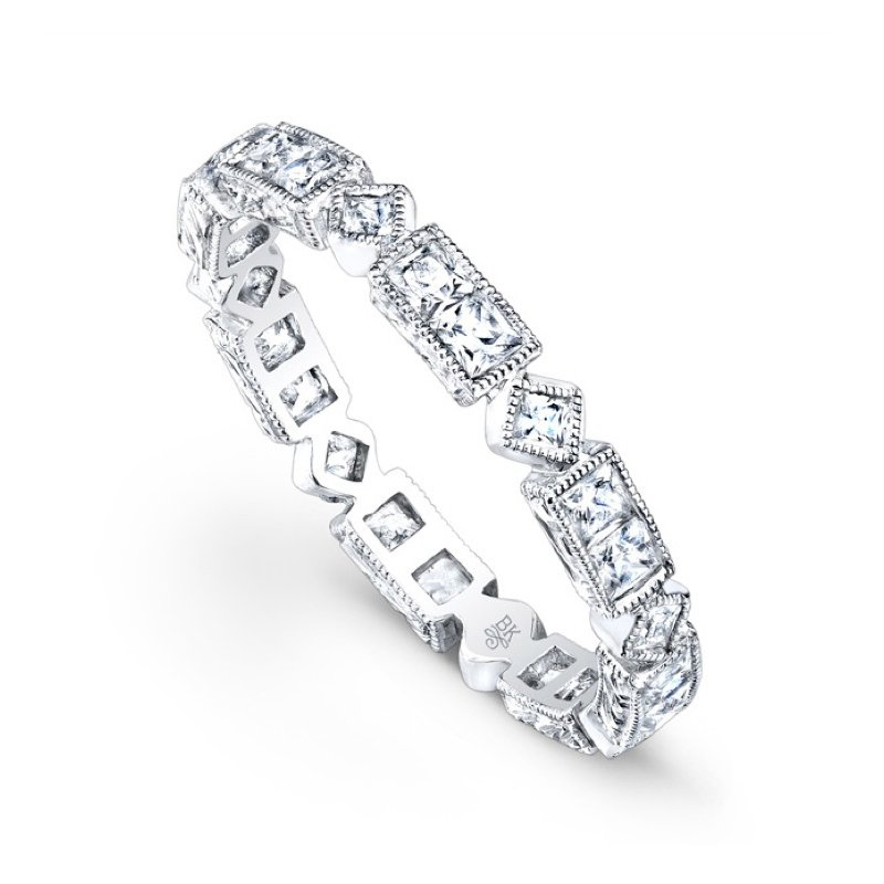 Beverley K Vintage Geometric Diamond Eternity Band