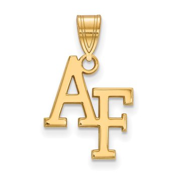 Gold-Plated Sterling Silver United States Air Force Academy NCAA Pendant