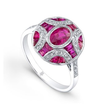 Oval Ruby Fashion Ring